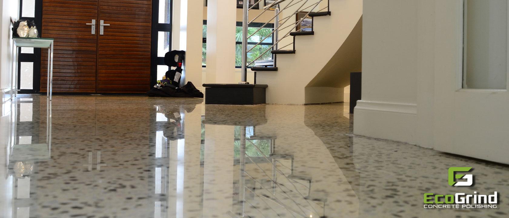 Melbourne concrete floor polishing let eco grind take for Caring for polished concrete floors