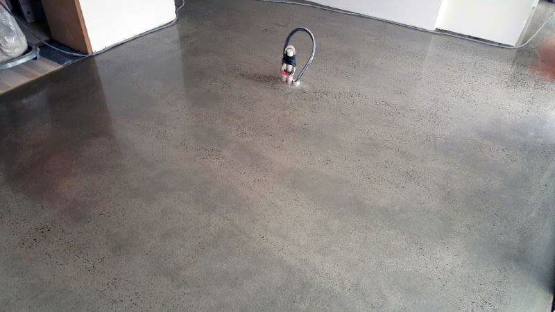 Latest work random exposure finish eco grind for Mop on concrete floor wax