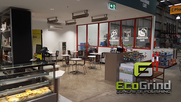 bunnings polished concrete cafe and grind seal kitchen