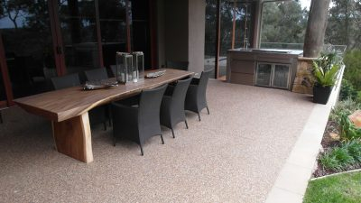 outdoor uses of polished concrete