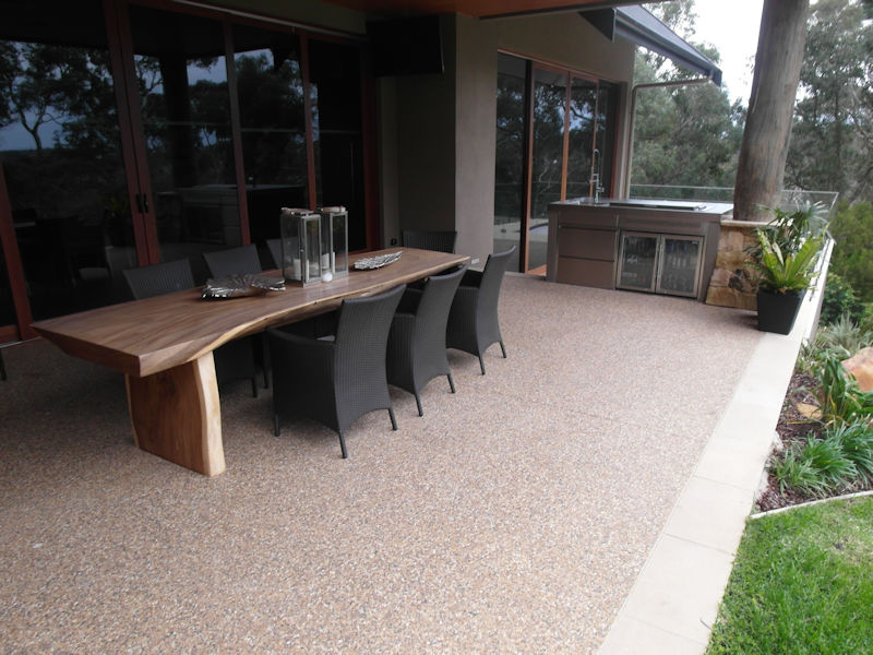 Outdoor patio flooring a long lasting solution eco grind for Polished concrete exterior