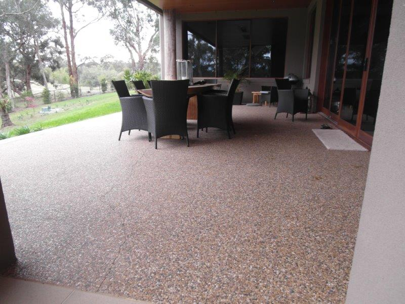 Acid etching melbourne eco grind concrete polishing for Polished concrete exterior