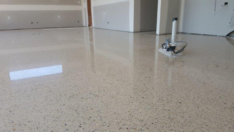 Polished concrete melbourne eco grind concrete polishing for How to shine cement floor