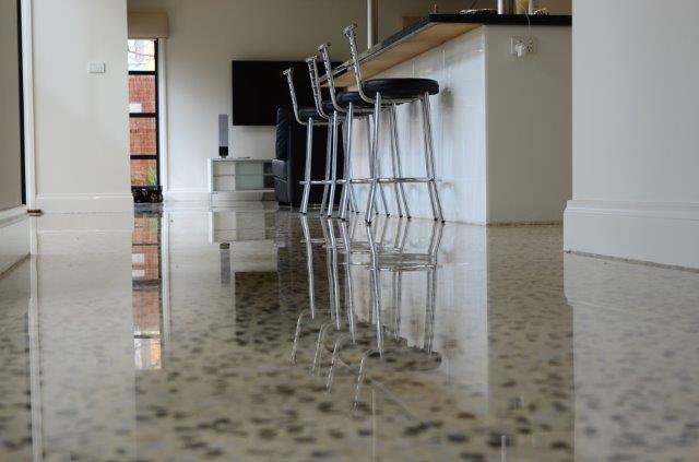 concrete polished kitchen floors - eco grind
