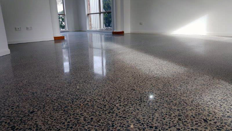 how to clean polished concrete floors