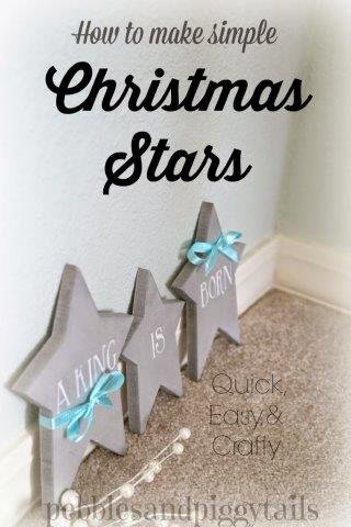 DIY-Christmas-Stars by pebbles and piggy tails.