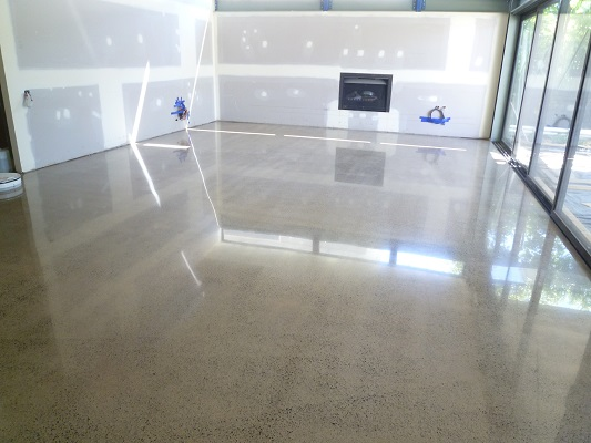 Polished Concrete Living Rooms