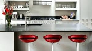Red Kitchen with Polished Concrete