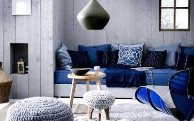 Blue Themed Lounge Rooms with Polished Concrete Floors – Reinvigorate Your Space