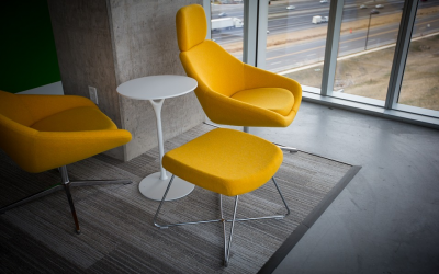 Modernise your workspace! Yellow Themed Offices with Polished Concrete Floors