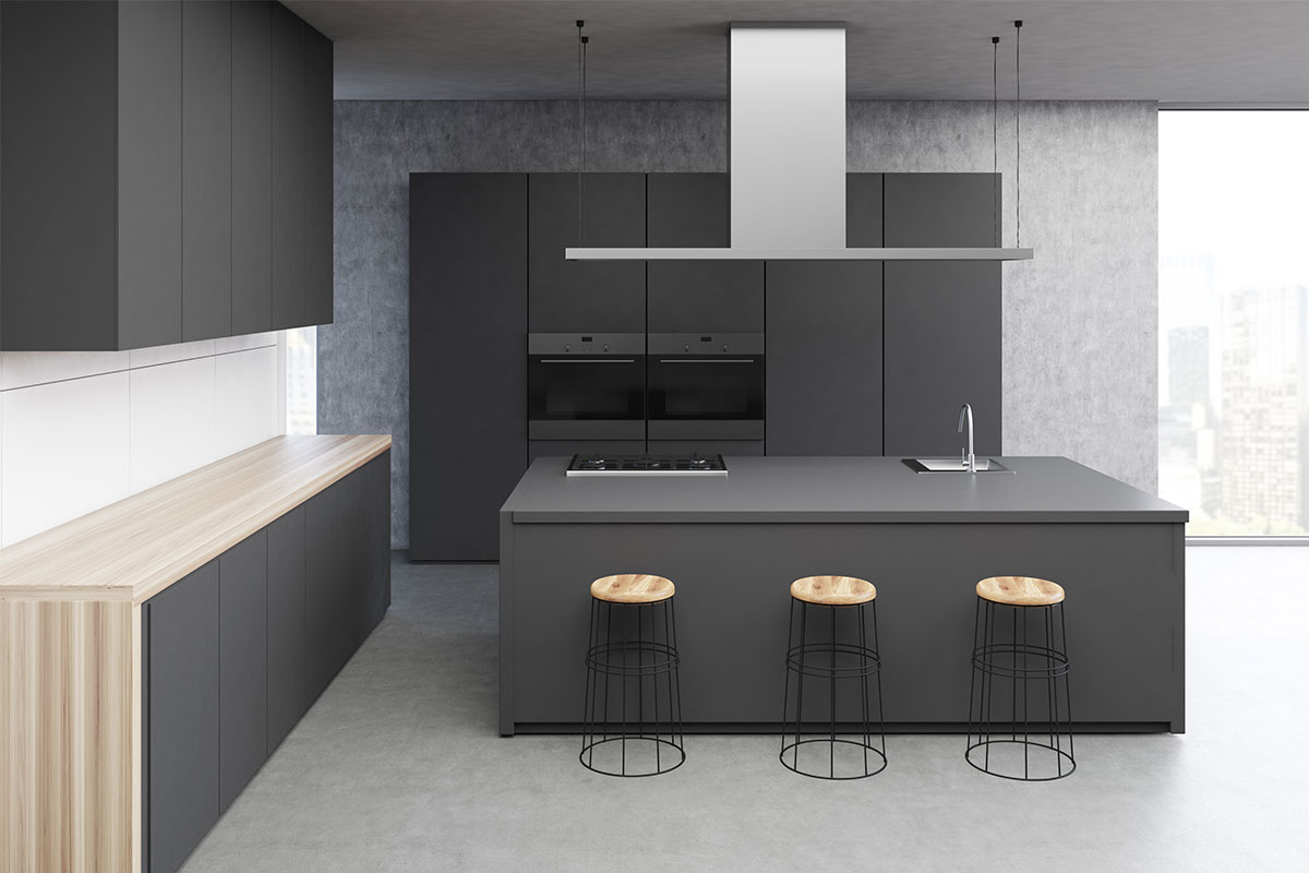 Modern Minimalist Concrete Polishing - Kitchen