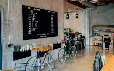 Polished concrete floors in cafes charm the coffee crowd