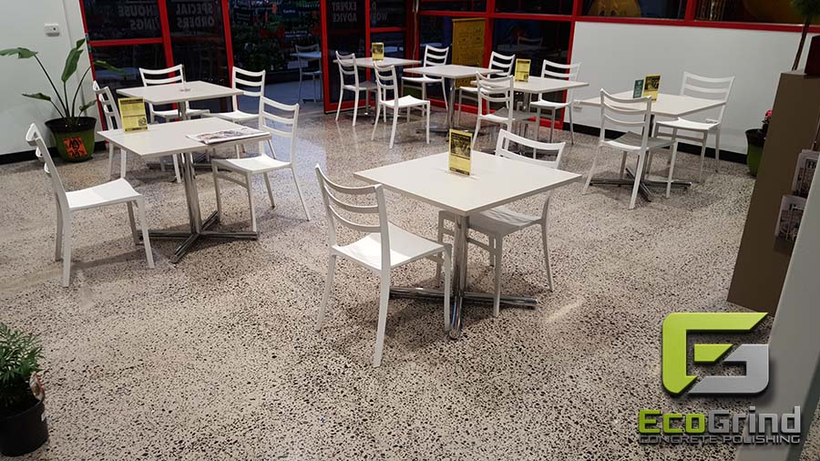 Eco Grind - Concrete Floor in Cafes