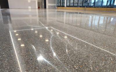 Full Exposure Mechanical Polished Concrete – Warragul Petrol Station
