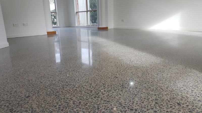 Concrete polished floors cairnlea eco grind for Residential concrete floor wax